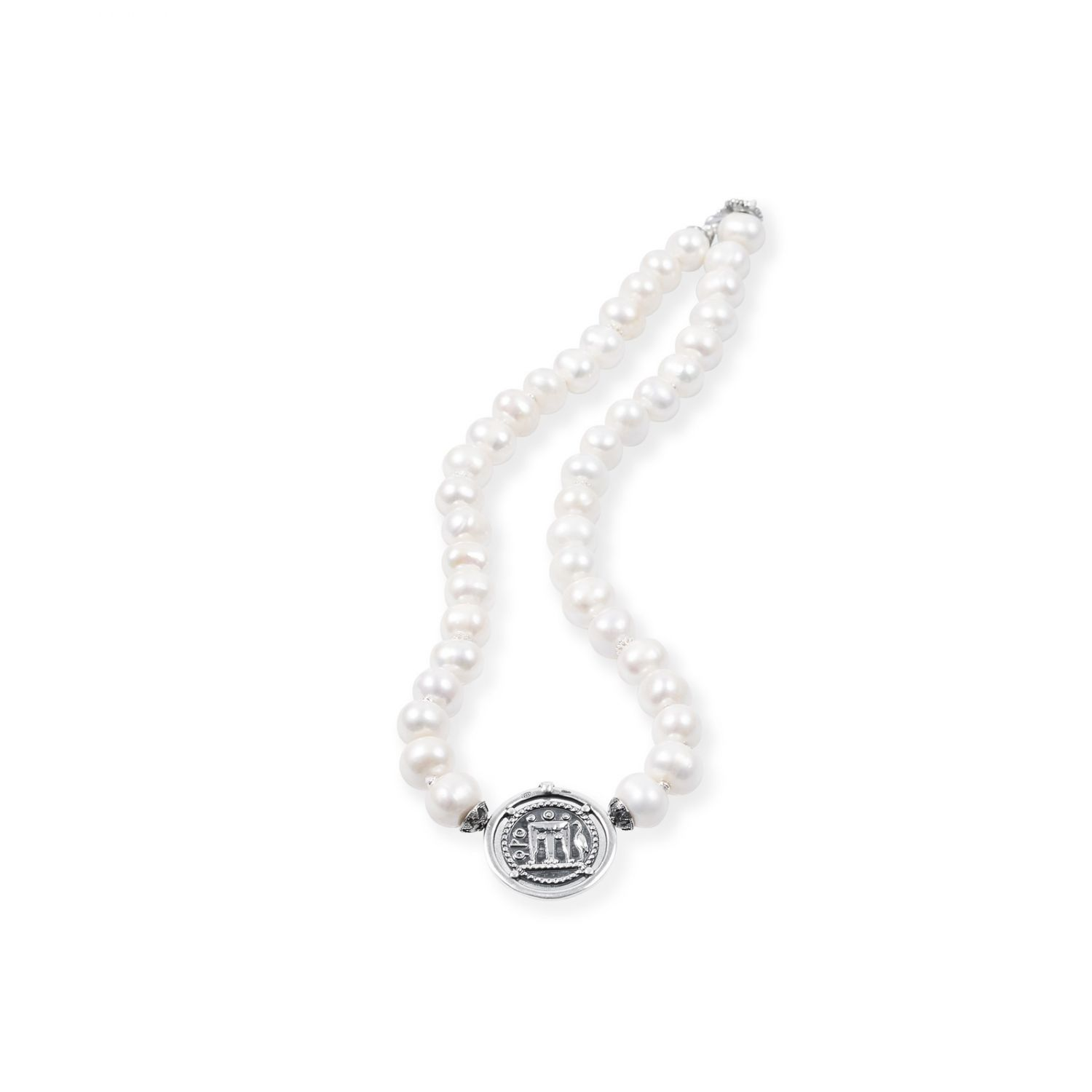 Pearls Necklace with Coin (27582)