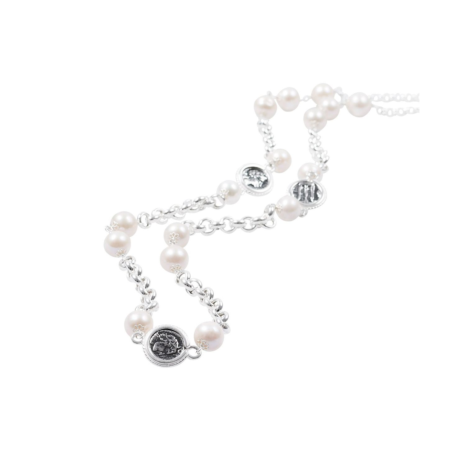 Pearls and Coins Necklace (40018)