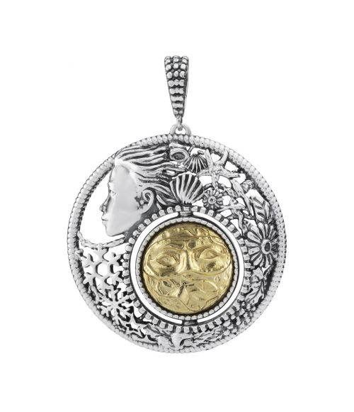 Mesi Reverse February-Winter Round Pendant (27733)