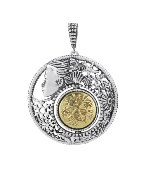 Mesi Reverse December-Winter Round Pendant (27743)
