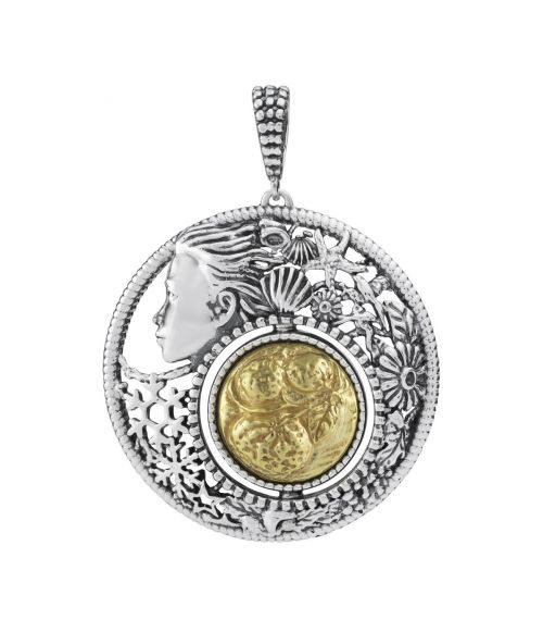 Mesi Reverse January-Winter Round Pendant (27732)