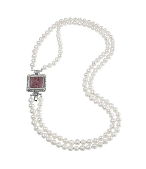 Pearl Necklace and Purple Glass Paste (27721VI)