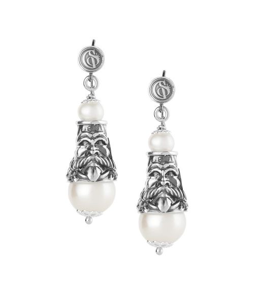 Earrings with Perarls and Masks (27815)