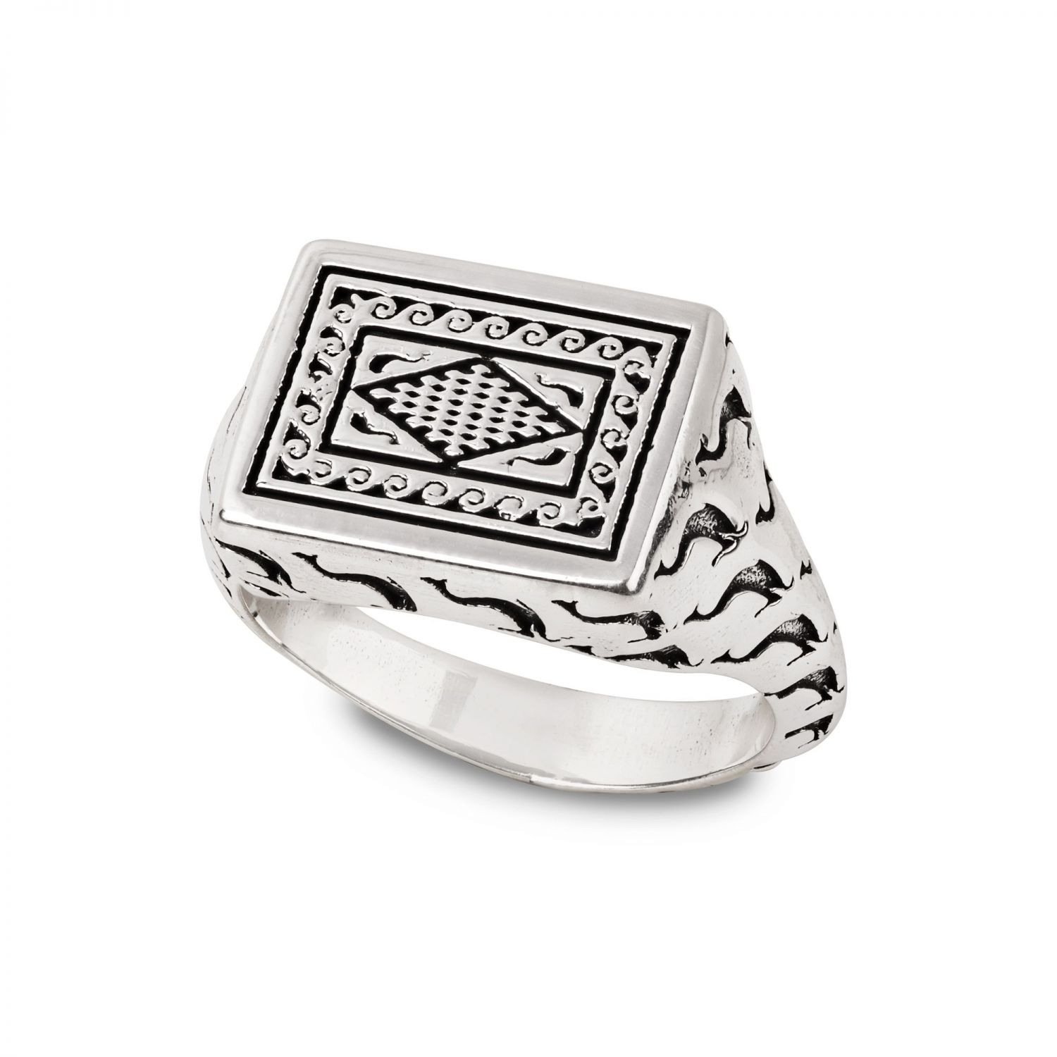 Ring with dolphins mosaic (27872)