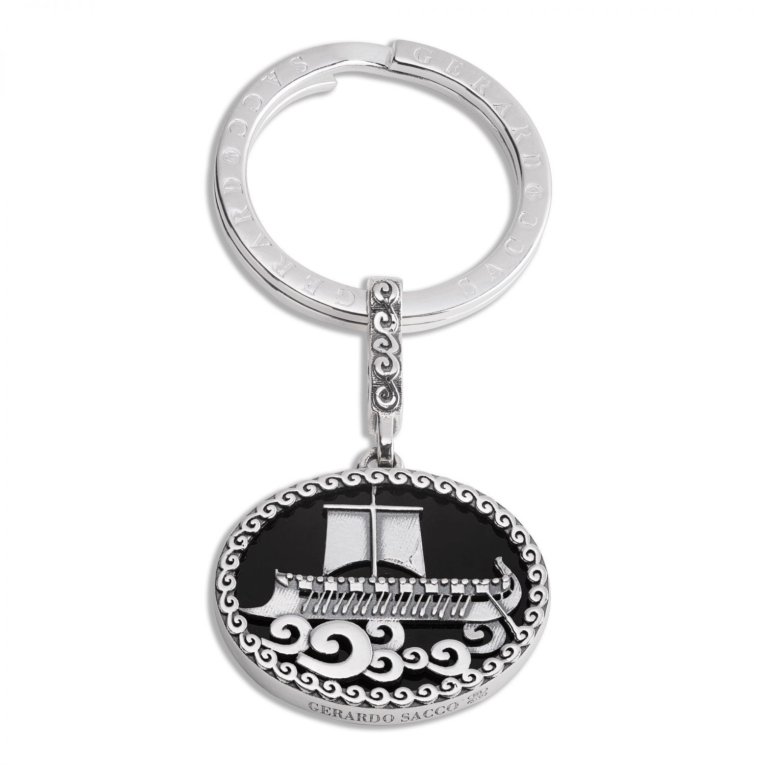 Phayllos Keyring with trireme on the onyx (27878)
