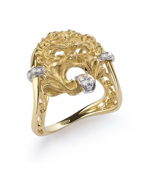Gold Mask Ring (61199)