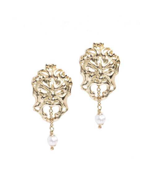 Gold Mask Earrings (19281)