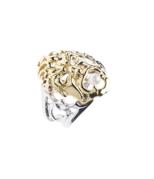 Gold Mask Ring (19282)