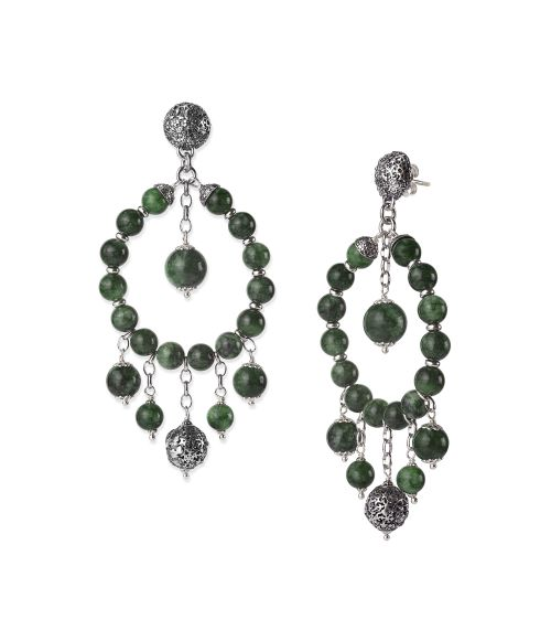 Earrings with Stones and Sinacles (28017)