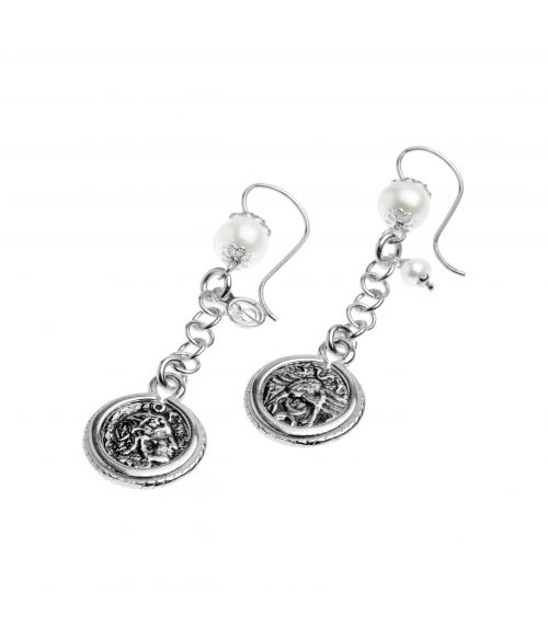 Pearls and Coins Earrings (40019)