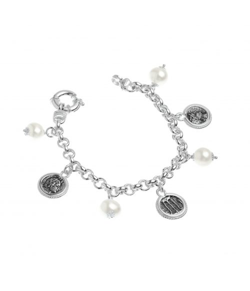 Pearls and Coins Bracelet (40017)