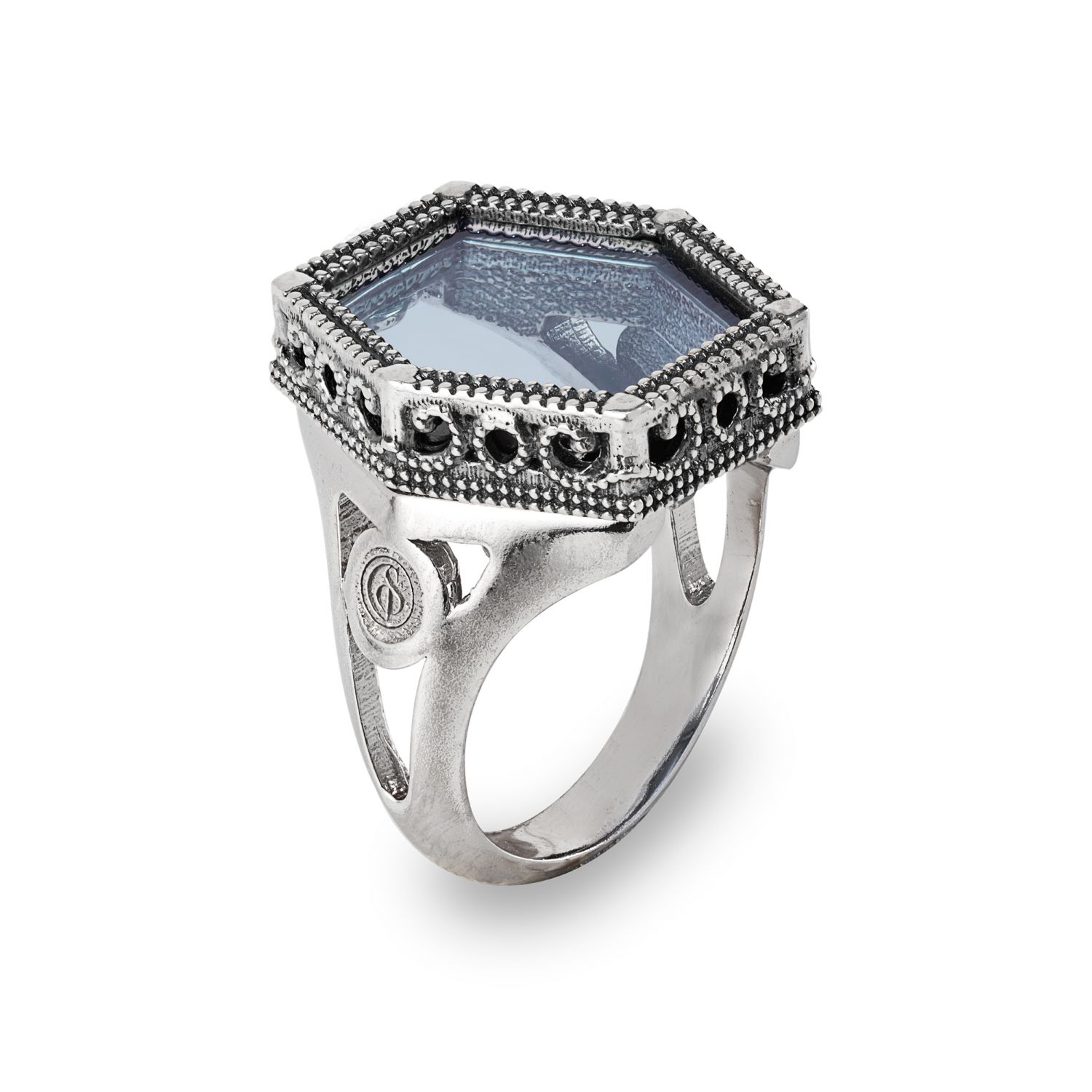 Silver Ring with colored gemstone (28023)