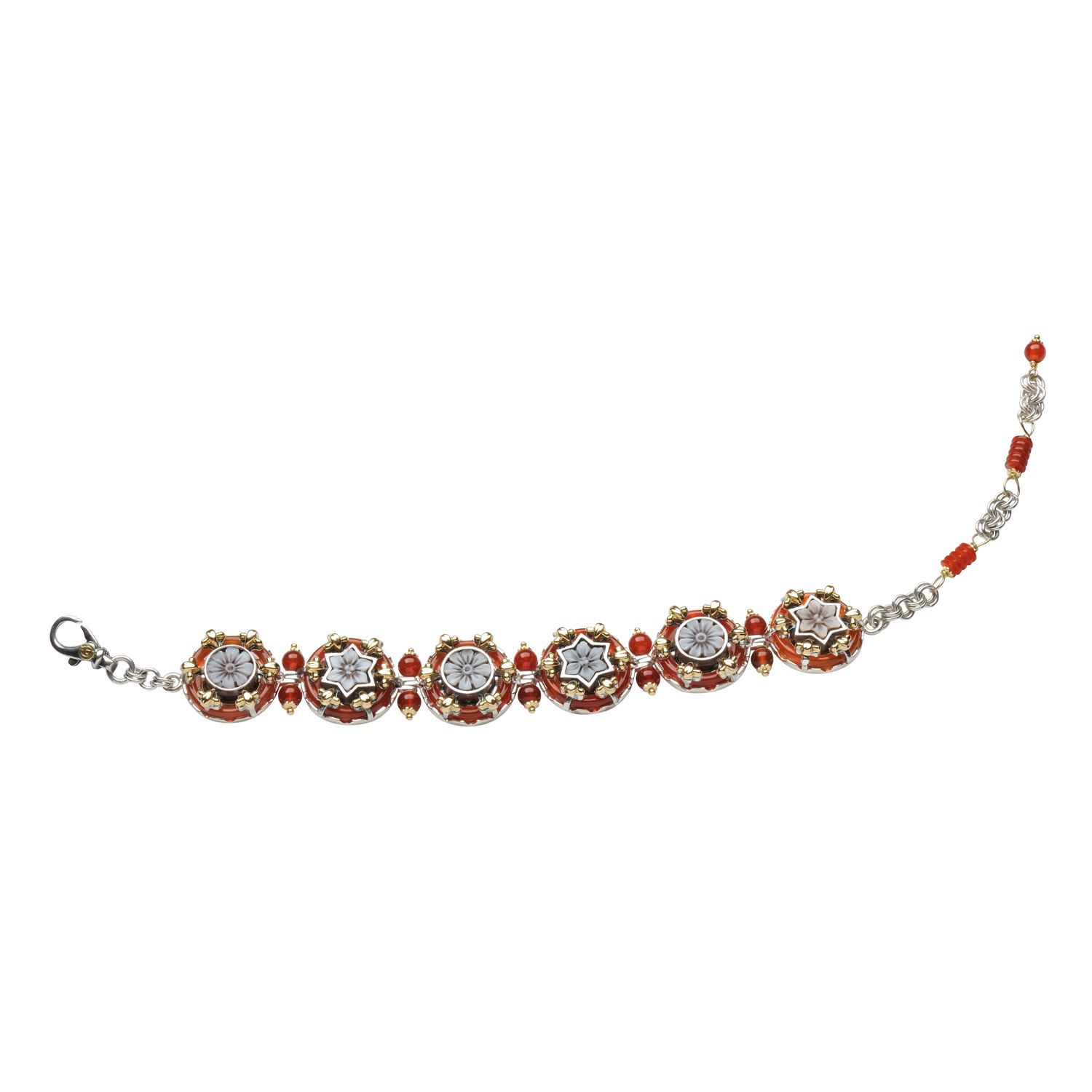 Bracelet with Cameos and Agates (18067)