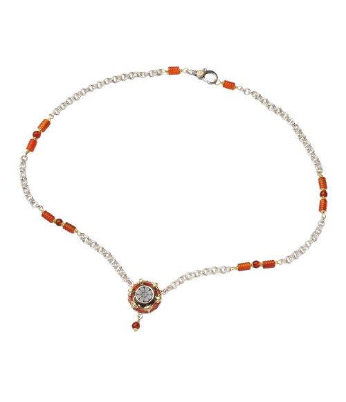 Necklace with Cameo and Agates (18071)