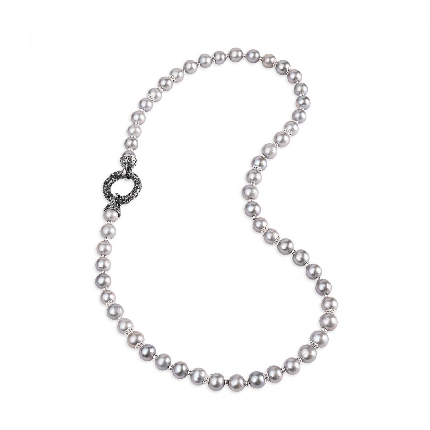 Pearl Necklace with Silver clasp (27866)