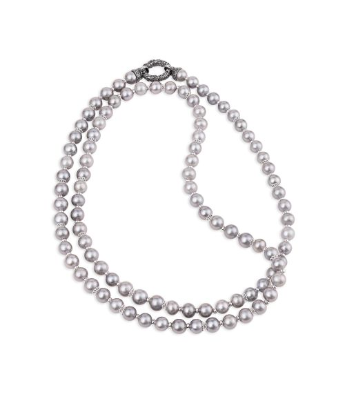 Pearl Necklace with Silver clasp (27867)