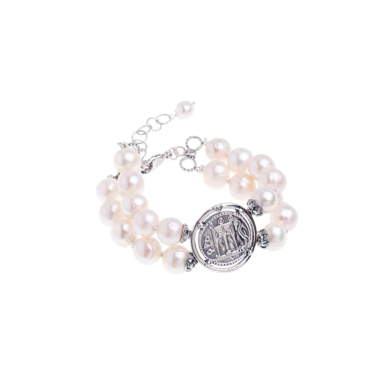 Pearls Bracelet with Coin (27557)