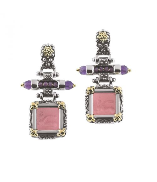 Glass Paste Earrings (35114)