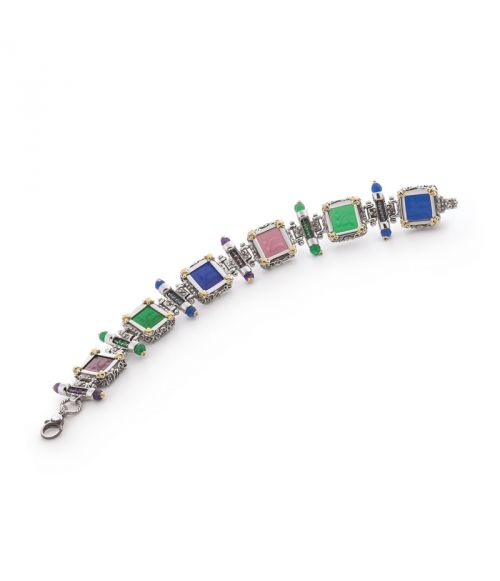 Square Glass Paste Bracelet (35113)