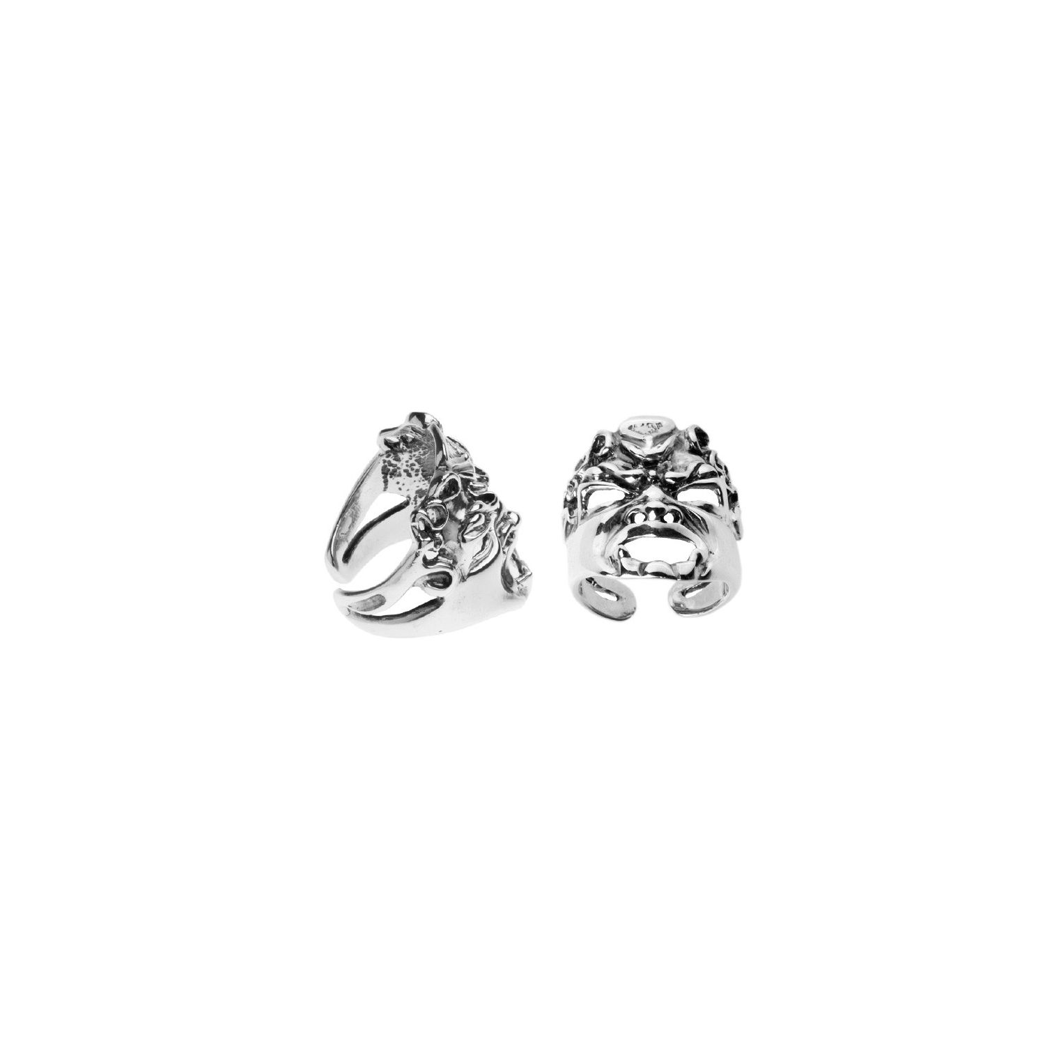 Silver Ring with Mask (27577)