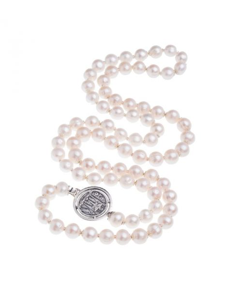 Pearls Necklace with Coin (27576)