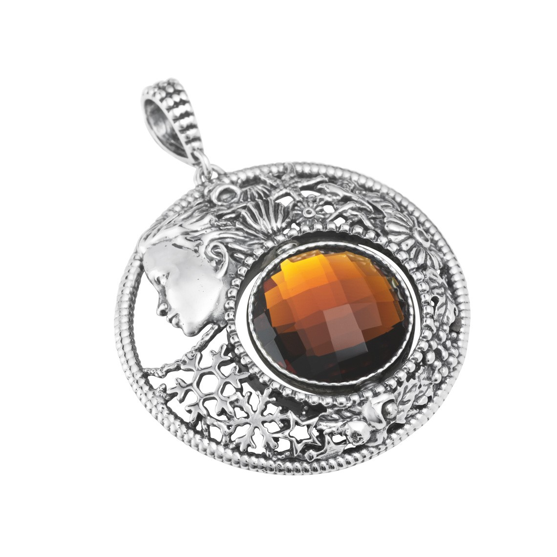 Mesi Reverse October-Autumn Round Pendant (27741)