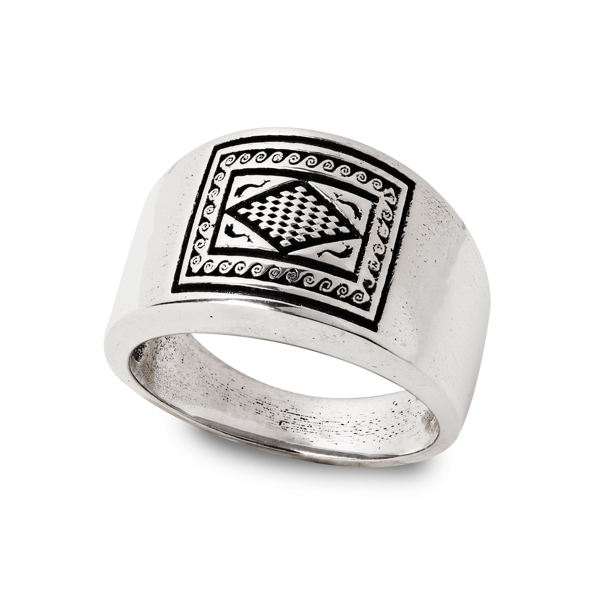 Ring with dolphins mosaic (27873)