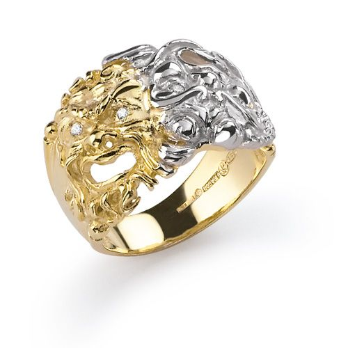 Gold Mask Ring (61274)