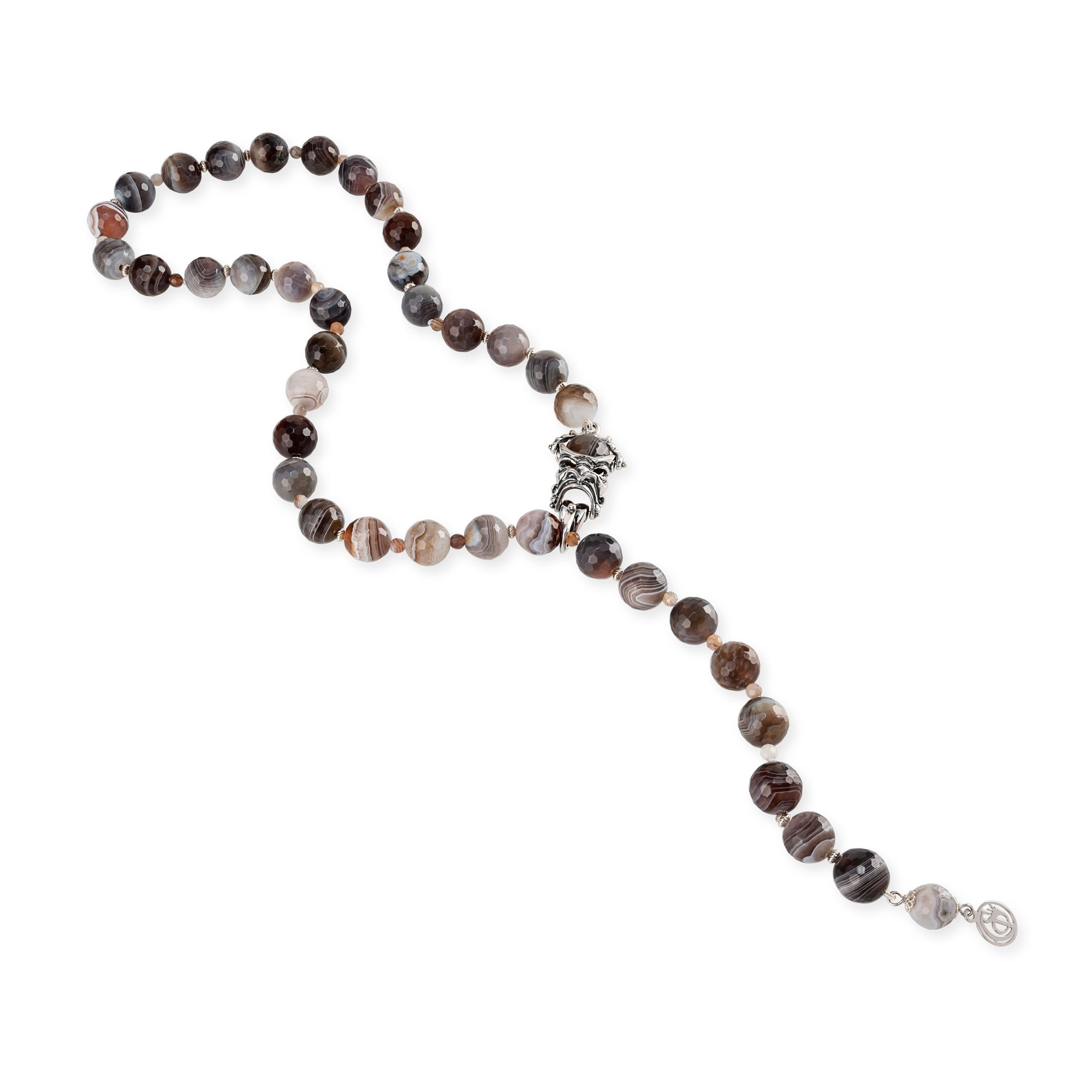 Colored Gemstones Necklace with Mask (28026)