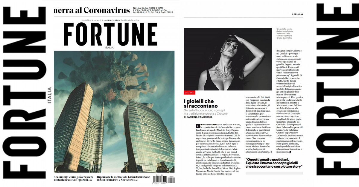 Gerardo Sacco sul business magazine Fortune